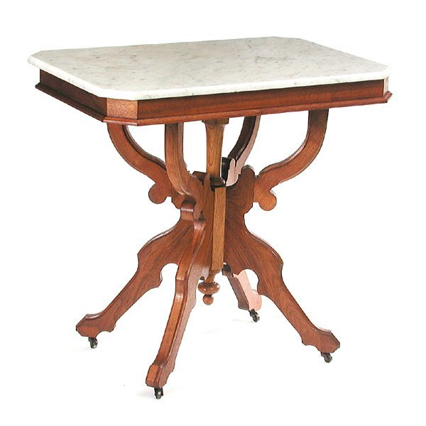 11: Victorian marble top table