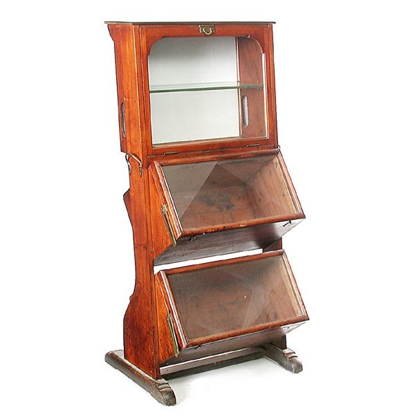 12: Victorian store display cabinet