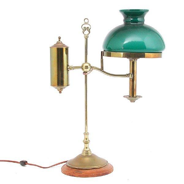 20: Brass Victorian style student lamp