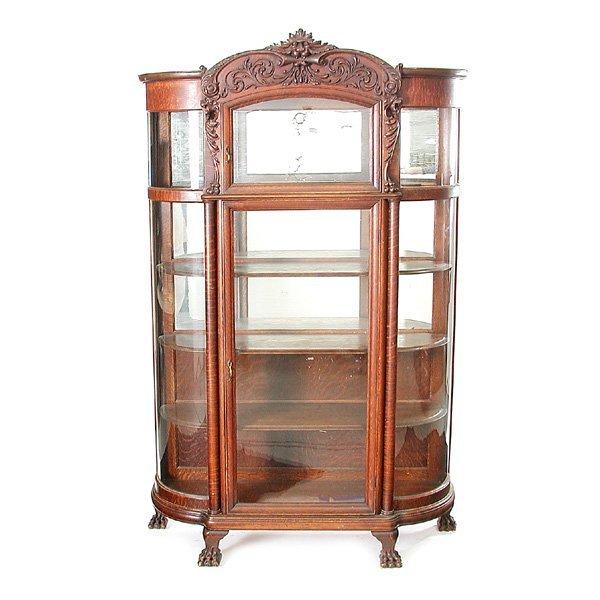 21: Victorian Oak China Cabinet