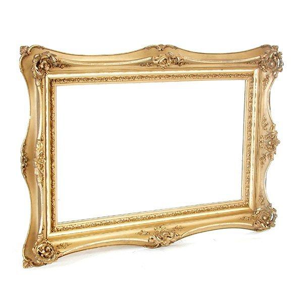 23: Fancy Victorian gilt framed mirror
