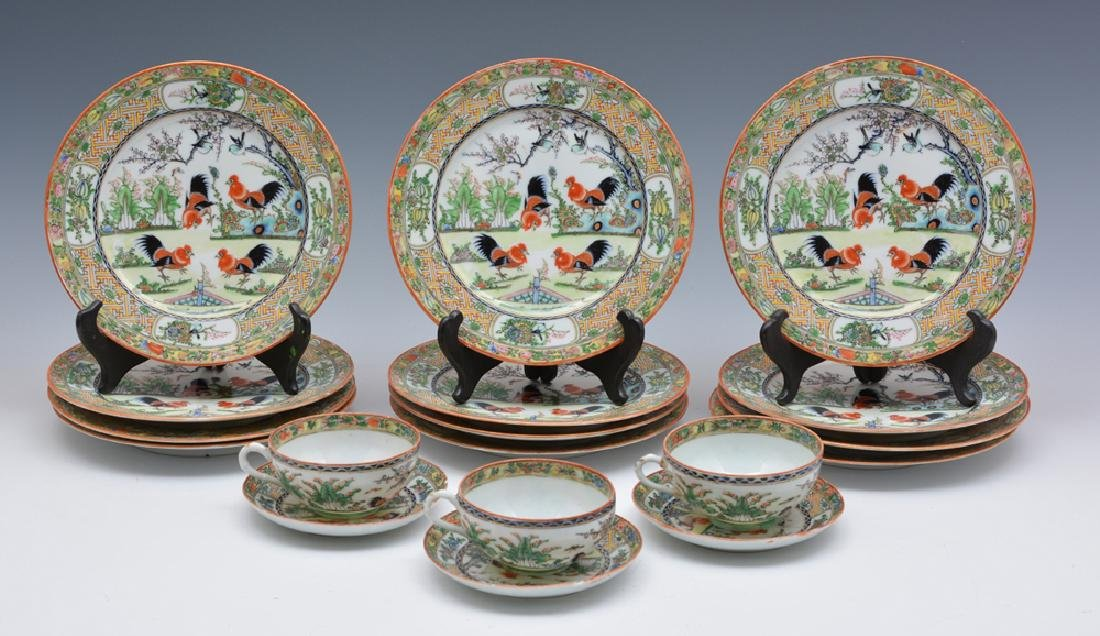 Chinese porcelain dinnerware, Rooster