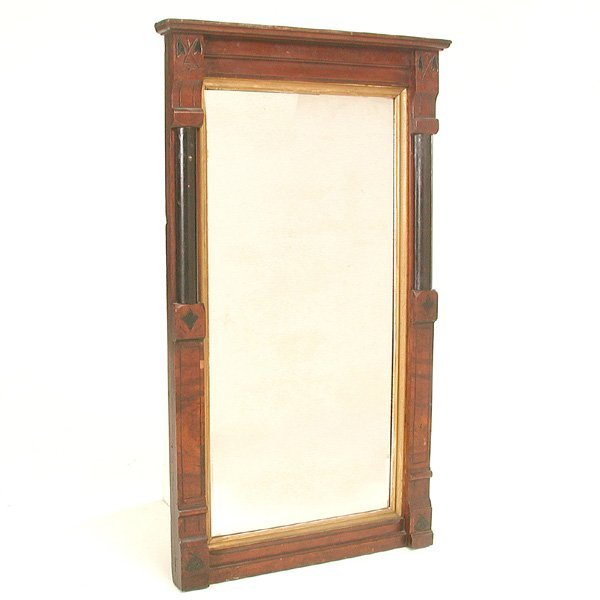 20: Victorian Walnut Hall Mirror