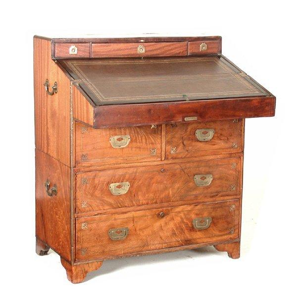 12: Camphor Wood Campaign desk, Mid 19th c
