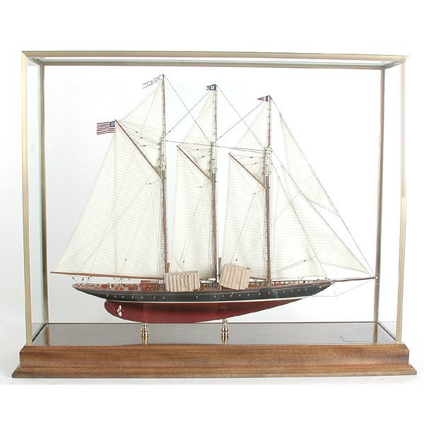 18: Ship Model of Schooner Yacht Atlantic