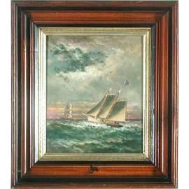 206: Wm A. Coulter, Ship Painting, Pilot Ship Gracie