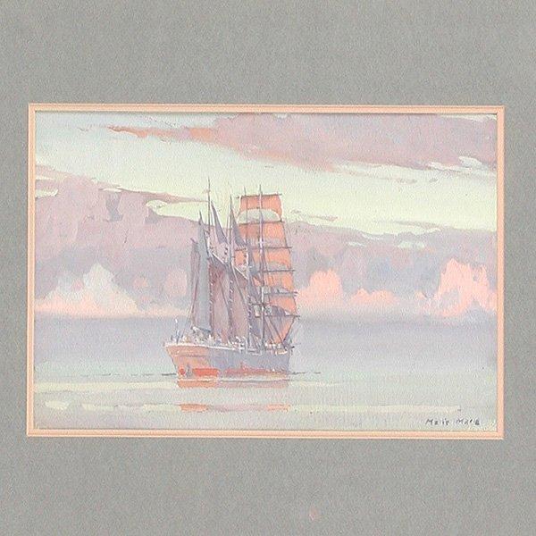 217: Marin - Marie Painting, Marine scene