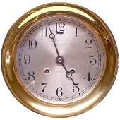 249: CLOCK. Brass Chelsea Clock Co. Boston U.S.A. - Shi