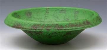 "Weller Pottery ""Coppertone"" bowl, 12 1/4"" diameter"