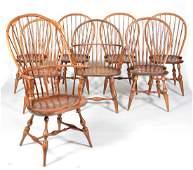8 Windsor chairs 7 DRDimes  Virginia Craftsman