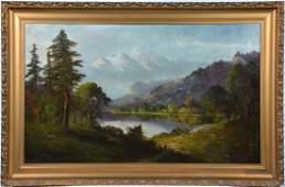 John Englehart painting, Lake Tahoe Mt Landscape