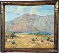 California School, Desert Landscape, oil on canvas