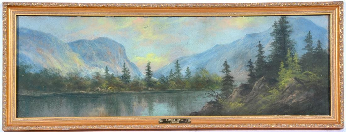 California School, Feather River Canyon, Pastel