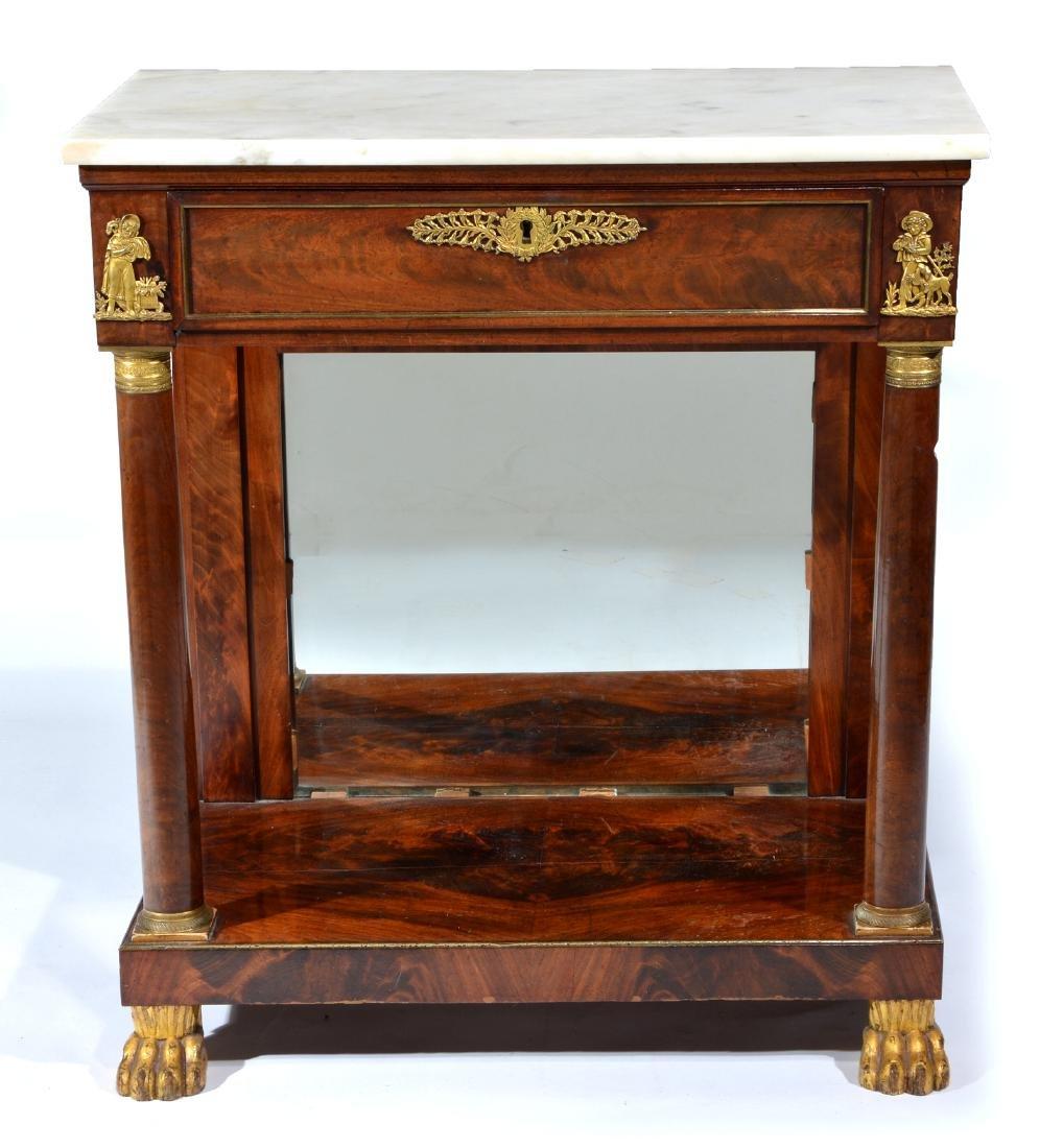 French Empire Mahogany Console Table, early 19th c.