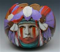 J.D. Challenger, (B. 1951), Native American Gourd