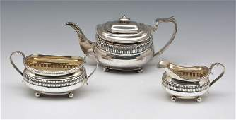 3 Pc English Sterling Silver Set Jonathan Alleine