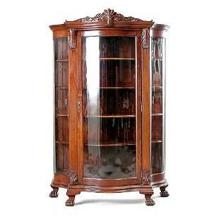 Victorian Oak China Cabinet