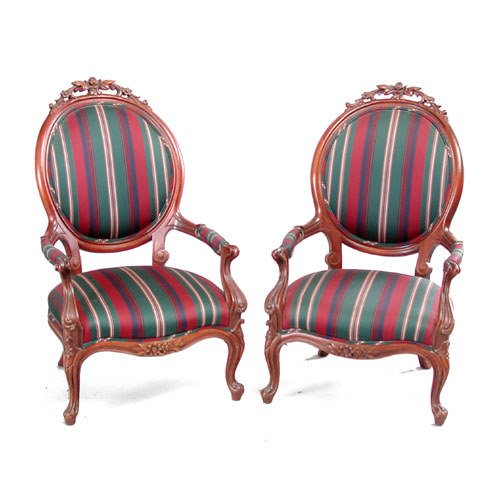 11: Victorian Style Armchairs
