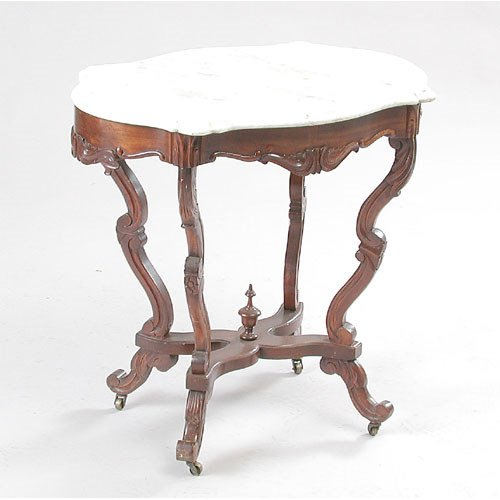 12: Victorian Marble Top Table