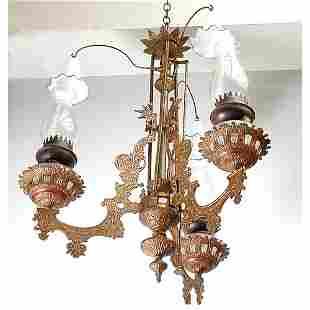 Victorian Kerosene Chandelier