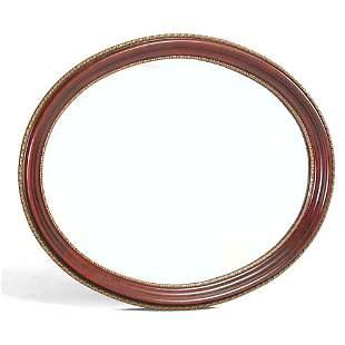Oval Mahogany Framed Mirror