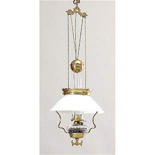 Adjustable 19th C Kerosene lamp