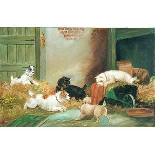 525: George Armfield Dog Painting