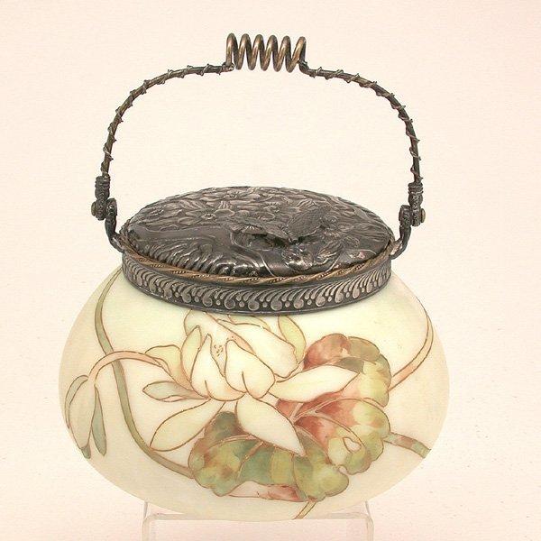 4: Mt. Washington Biscuit Jar, Silverplate Top