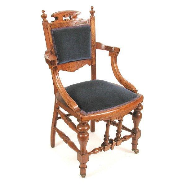 9: 19th. C American Walnut Victorian Chair