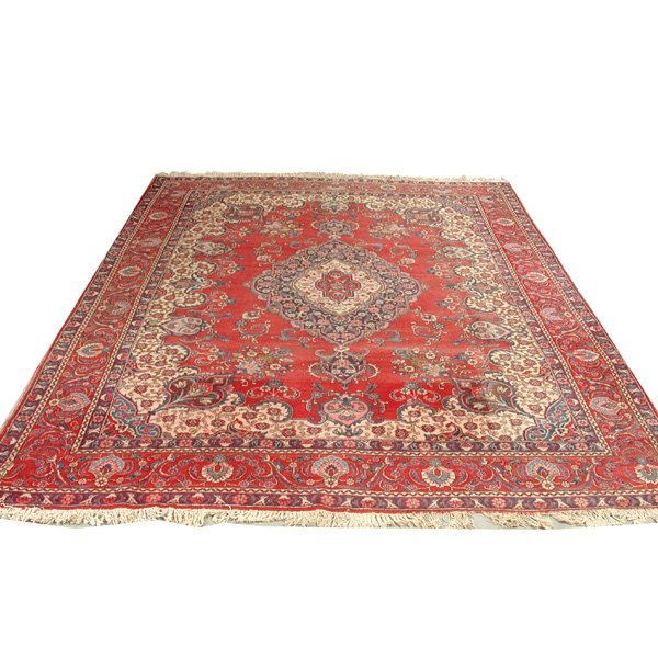 15: Persian Room Size Carpet Red Field