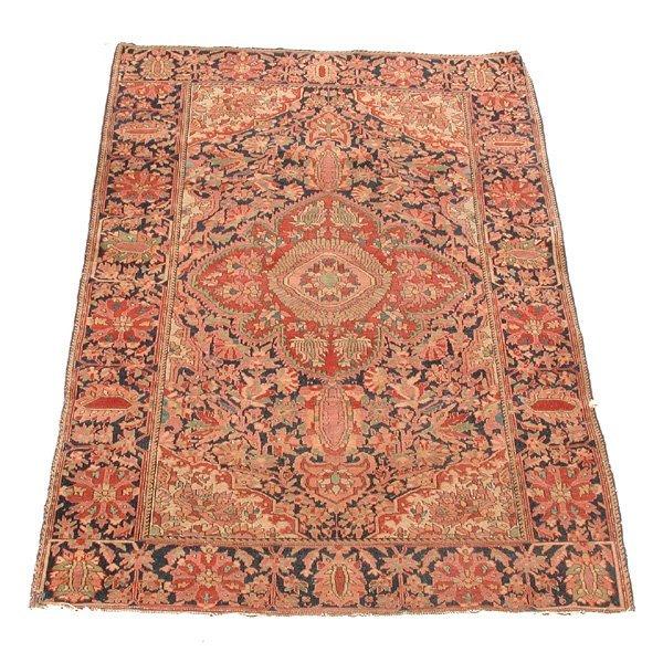 17: Persian Scatter Rug, Rust & Indigo