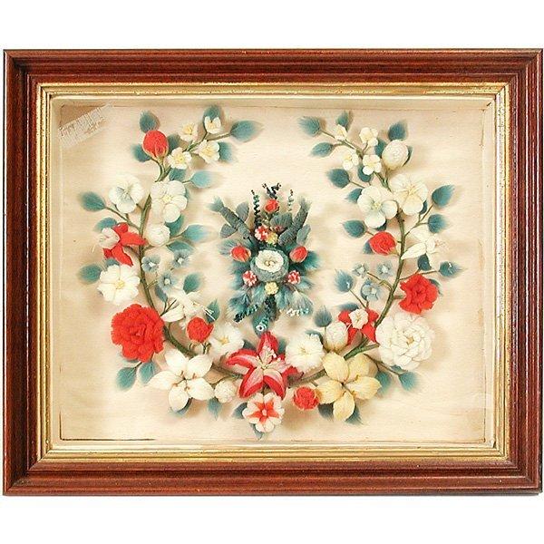 19: 19th. Century Shadow Box, Birds & Flowers