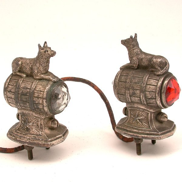 24: German Automobile Running Lights, 1940's Military