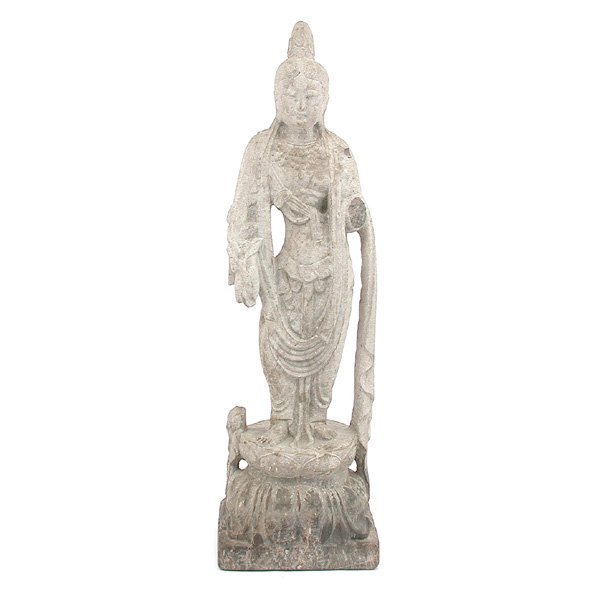 271: Chinese Carved Stone Figure Quan Yin