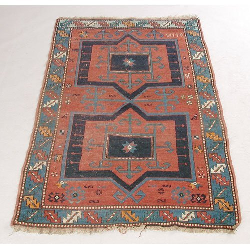 8: Carpet, Kazak Dated 1913
