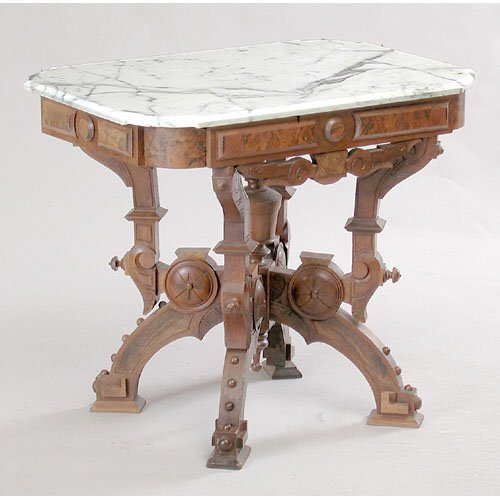 13: Marble Top Parlor Table