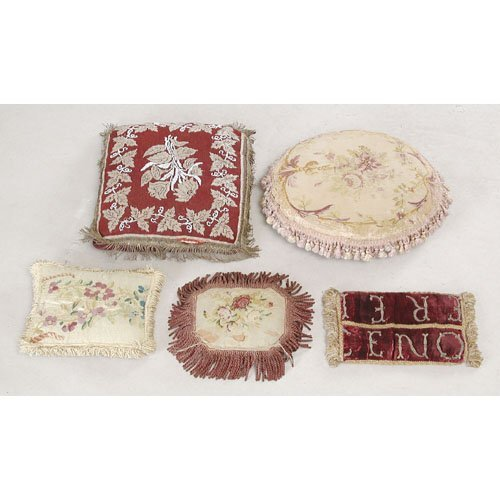 15: Lot of Five 19th c Pillows