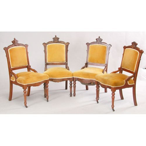 17: Set Of Four Victorian Side Chairs