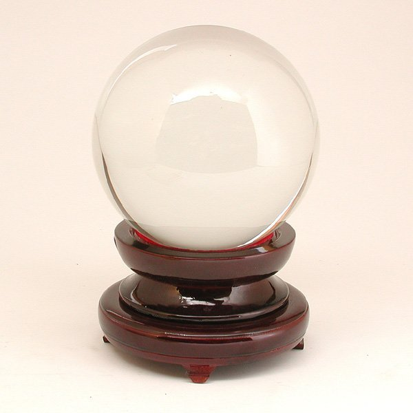 1: Large Crystal Ball & Stand