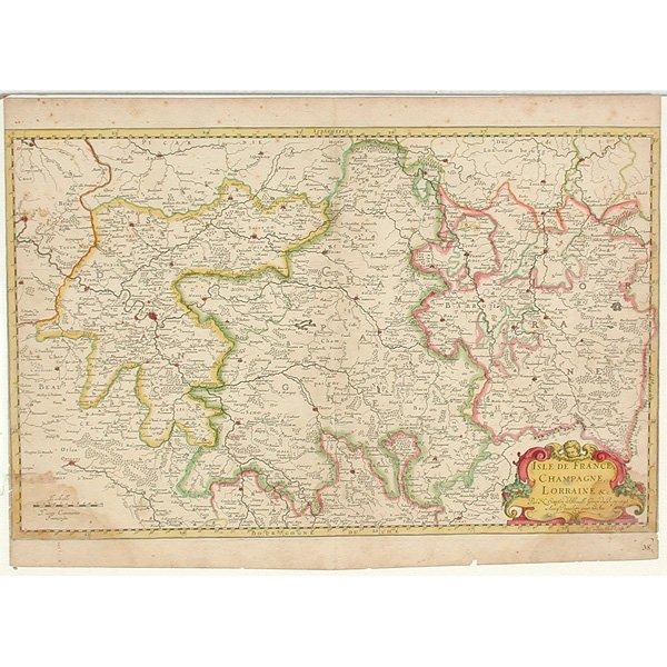 21: Map, Isle De France, Champagne, 1648