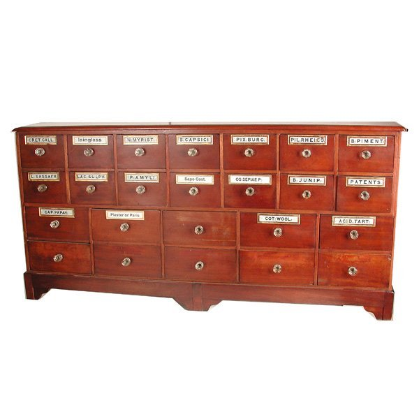 299: Apothecary Cabinet, 19th. C