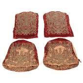 510: 4 Continental Velvet Upholstery Panels, 17th. C