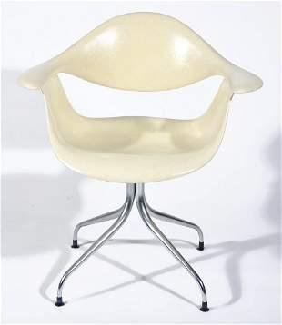 Herman Miller Cream Colored Armchair.