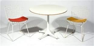 Herman Miller Child's Table & 2 Harry Bertoia Chairs