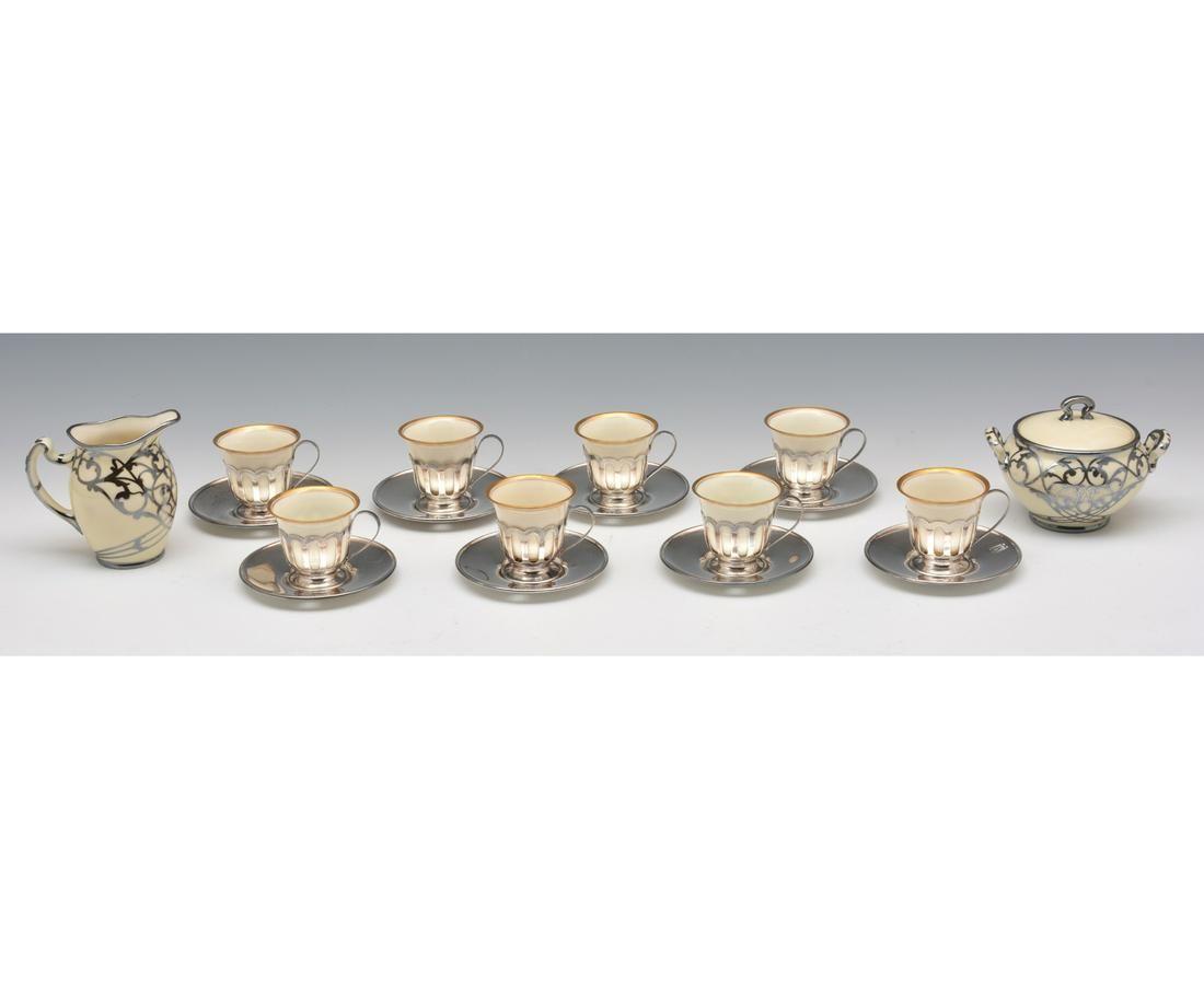 Shreve & Co Sterling Tea Cups, Lenox Inserts, C&S