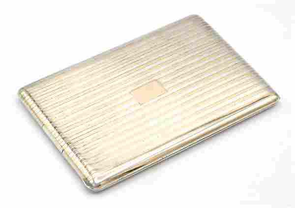 Cartier 14k rose gold & sterling cigarette case
