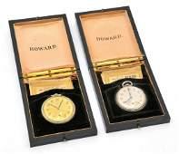 """(2) E. Howard Pocket Watches, """"Keystone Extra"""""""