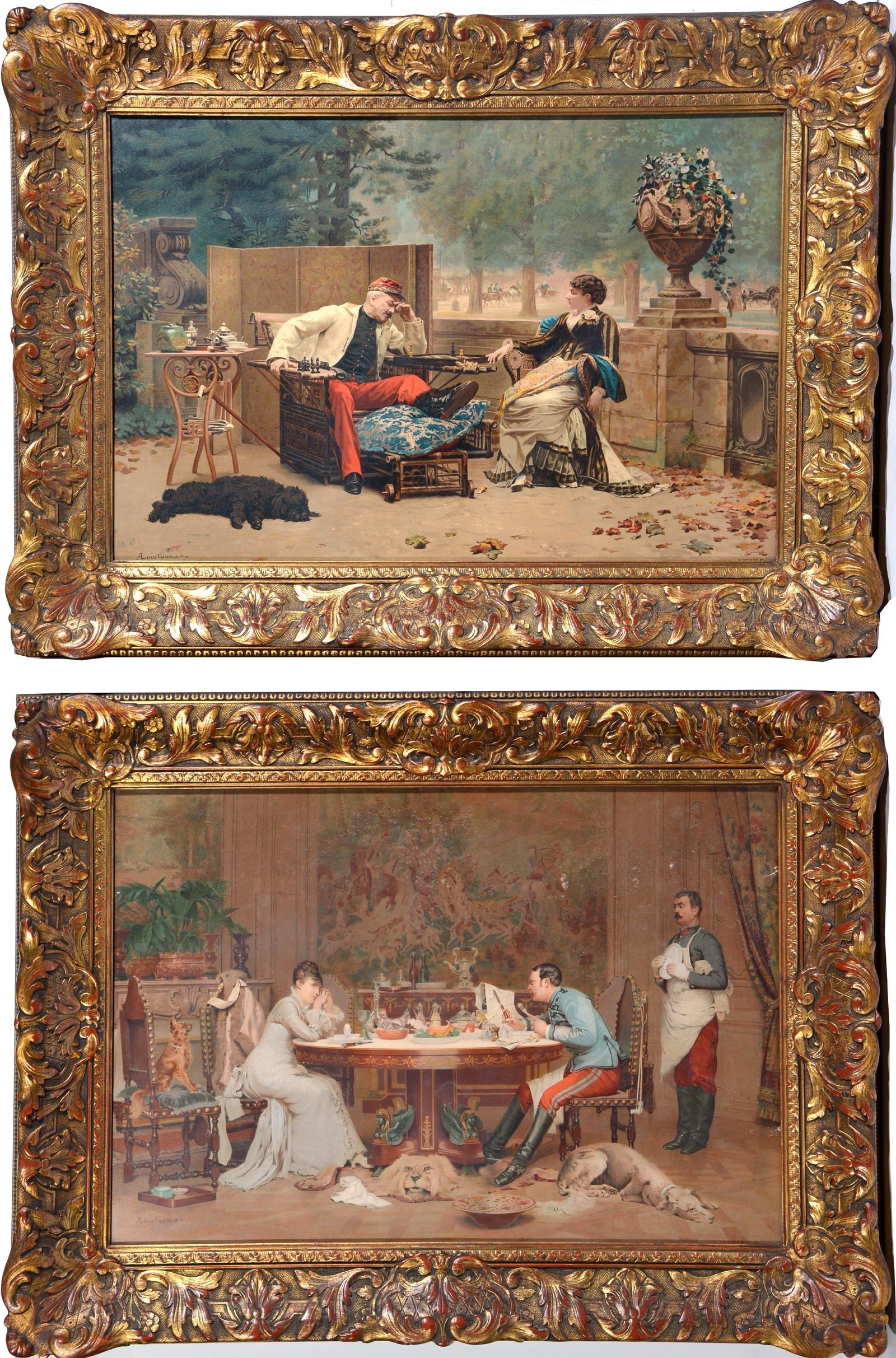 Louis Auguste Georges Loustaunau Color Lithographs