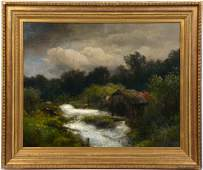 Herman Herzog, Old Mill with Storm Clouds, # RS4971