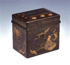 Japanese Lacquer Chabako (Tea Box), 16th/17th c